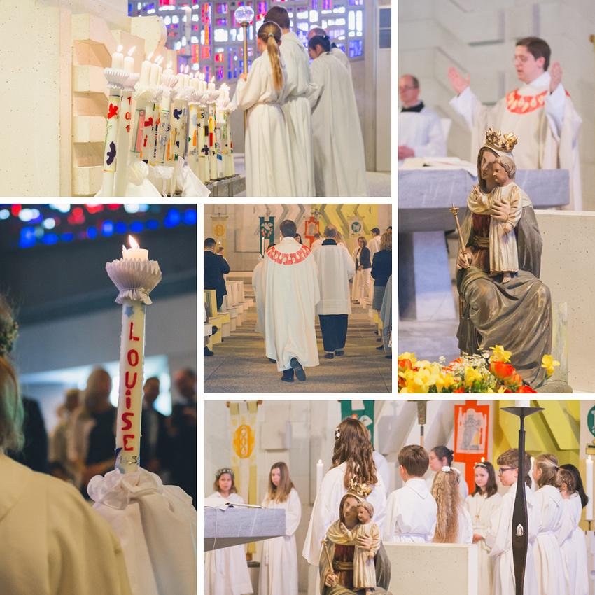 Impressionen Erstkommunion Mauritius Gottesdienst